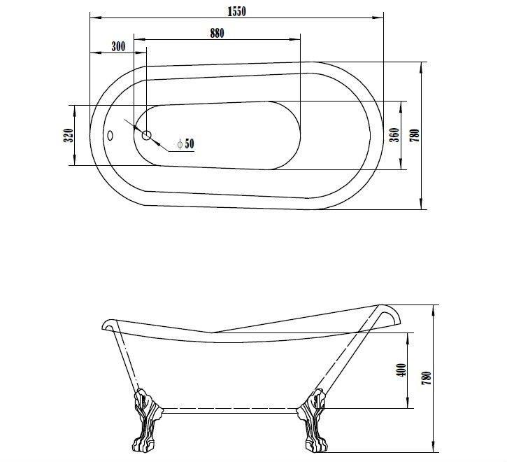 Classic Acrylic Claw Foot Tub Wtm 02501 Buy Acrylic Claw Foot Tub Acrylic F