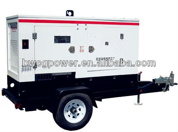 20kw power with Cummins Diesel Generator Super Silent Mobile Trailer Genset