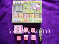Wholesale Lots ~ Hello Kitty Mini Stamp Set (10Set 50pcs) In Diff. Pattern