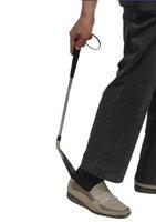 Ложка для обуви Stainless Steel Flexible Long Handle Shoehorn Shoe Horn AID Stick Silver 58CM[010450