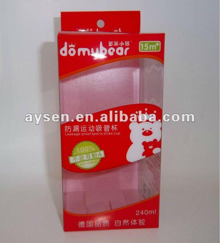 Caja de plástico transparente duro