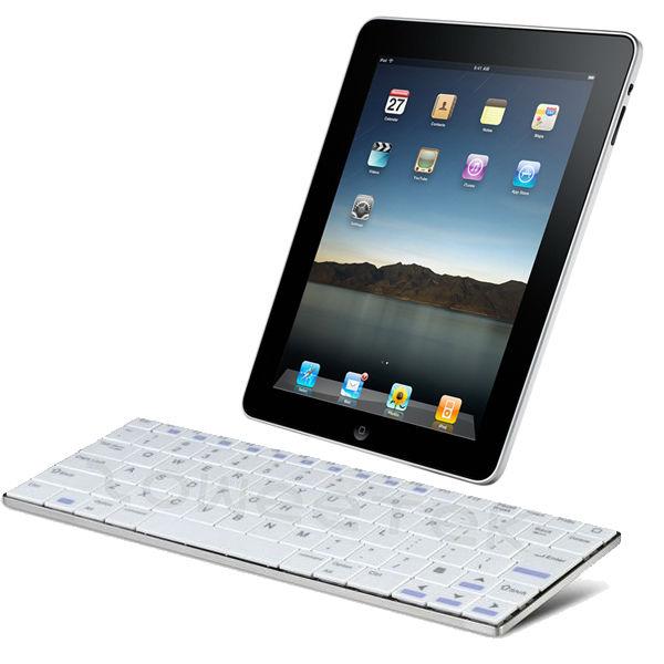 External Stainless Steel Wireless Bluetooth Keyboard for iPad 4 iPad Mini