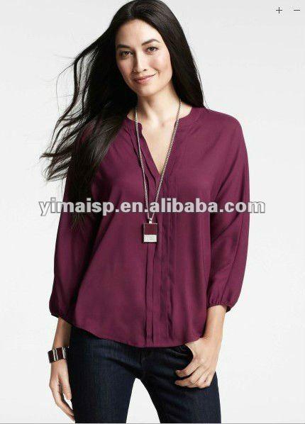Moda blusas elegantes para dama - Imagui