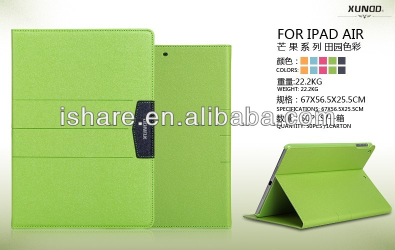 XUNDD Luxury PU Leather Stand Smart Cover Case For Apple iPad Air iPad 2 3 4