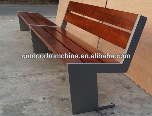 Steel solid wood park bench/outdoor bench