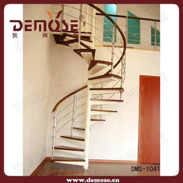 Int rieur m tal bois escalier en colima on kits pour maison de conteneur esca - Dimension escalier colimacon ...