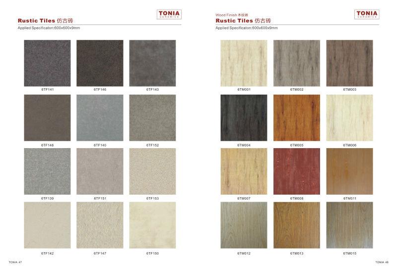 Matte Finish Texture Wooden Floor Tiles Standard Size 150x600