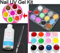 Набор для маникюра Acrylic Glitter Powder UV Builder Gel Nail Art Kit #412 HB-NailArt01-412set