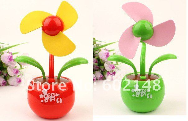 1pcs/Lot Wholesales Free Shipping USB apple fan,  electric fan good quality