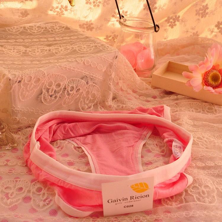 Free shipping (12pieces/lot)  women / girl's Cartoon underwear solid candy color modal underwear ladies underwear( random color)