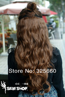 One Piece Long Curl/Curly/Wavy Hair Extension Clip-on 5 Colors Available