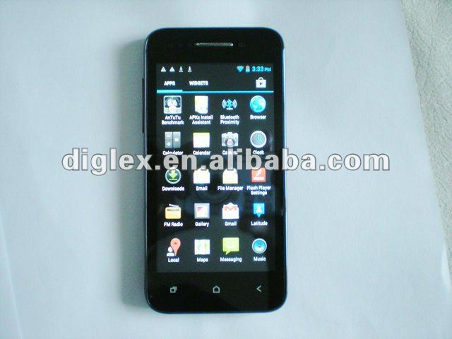 """X12 Android 4.0.4 MTK6577 Dual-core 512MB+4GB 1.2GHz 4.02""""HD(960*540)Capacitance Screen SmartPhone,dual camera android phones"""