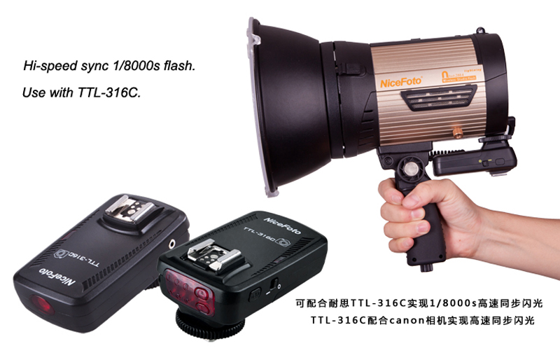 Nicefoto Photographic equipment Wireless studio flash Lightning Series