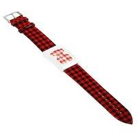 Наручные часы Elegant Black Lattice Leather Band Girls' Wrist Watch - B1894