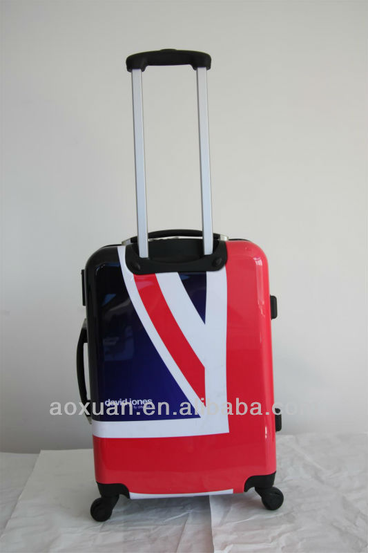 luggage travel bags ABS+PC film printing trolley luggage bag