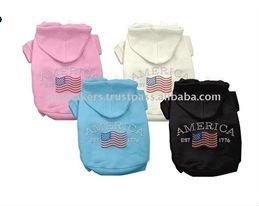 United States Rhinestone Bow Pet Shirts