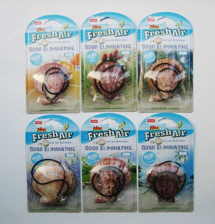 Natural shell hanging gel car air freshener