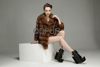 Женская одежда из меха Elegance Warm Real Sable Fur Coat Woman Fashion Noble Luxury Hot sale QD23550