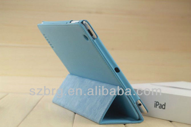 New 3 folds elastic smart PU case for iPad 4 3 2