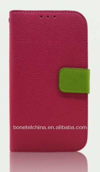 Hot Sell Mobile Phone Case Leather Flip Case for Samsung s4