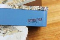 """6.5"""" European City tin storage box/ Kawaii lenses Box/ Vintage Jewelry earing Case/ 16.5x8.2x5.5cm Iron Case/ tea box"""