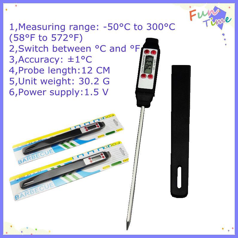 Household Digital Thermometer testing steak/food/beef/meat temperature meter