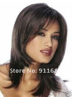 Парик 1pcs Synthetic Wig Women's Black Hair Wigs high quality free shipping