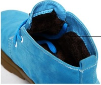 2013 autumn and winter fashion warm male cattle tendon bottom boots Suede Boots Free shipping