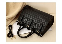 Сумка через плечо 2013 summer ship Hot sale occident fashion woman's PU handbags ladies shoulder bags good quality drop ship B045
