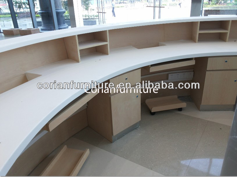 Reception Desk Designs Drawings Round Corian Reception Desk p