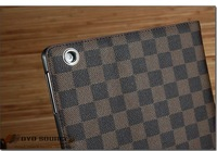 High quality Classical plaid  leather case for ipad 3 4 Auto Standby and Sleep Mode back cover for ipad 4 and case for new ipad