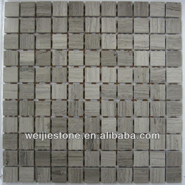 wooden grey marble mosaic backsplash tiles marble mosaic tile stone