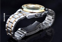 OUYAWEI two tone gold 6-hand multi-function auto mechanical men business style wristwatch