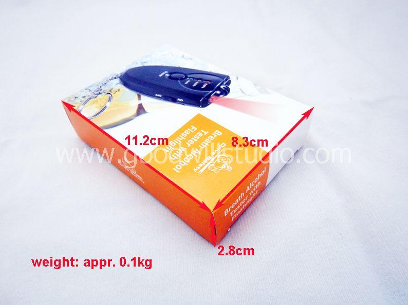 ALT01, Breath Alcohol Tester with Flashlight, Alcohol Tester with Key Chain, Digital Breath Alcohol Tester