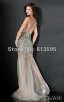 Вечернее платье Real photo Gold Halter A-line long Party dress&evening gown tulle with crystal&Criss-cross back designer