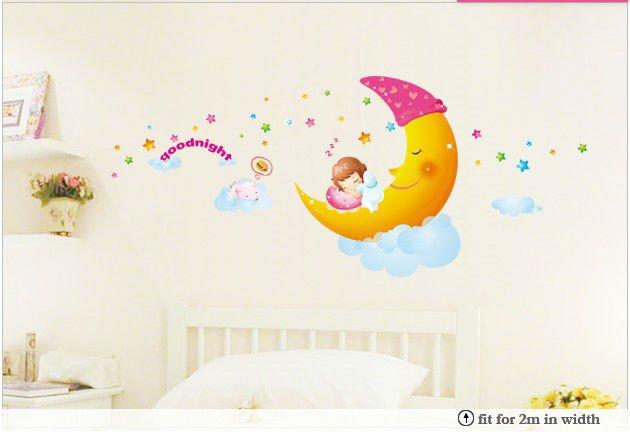 Aliexpress.com : Buy Sweet dream kids room removable cartoon wall ...