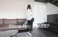 Женское платье Black/white Dress Sweet Semi Sexy Sheer Long Sleeve Embroidery Floral Lace Crochet Tee Top T shirt Vintage [ D017