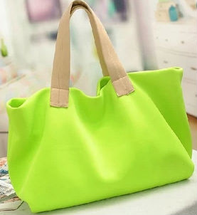 New Trend Fluorescent Handbag Lady With Candy Colors