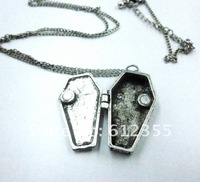 Mix minimum order $20, Promotion fashion silver and antique bronze bat ang cross box necklace