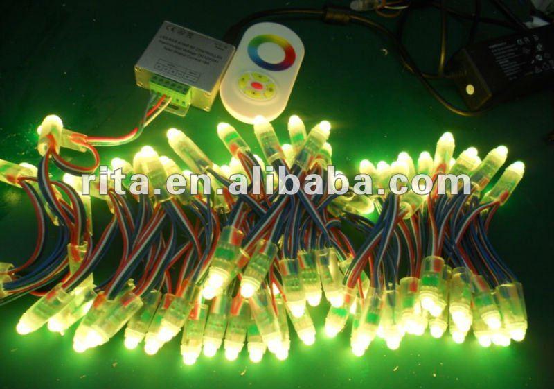 IP68 DC12V input 12mm led string light;RGB color;100pcs a string