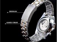 ouyawei два тона золото 6 руки многофункциональный автоматические механические мужские бизнес стиль наручные часы