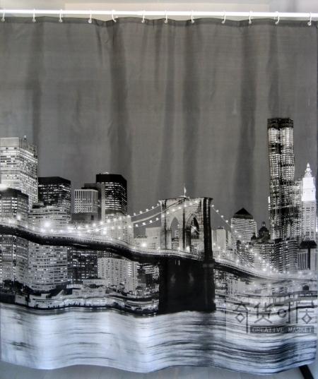 Brooklyn bridge shower curtain 2