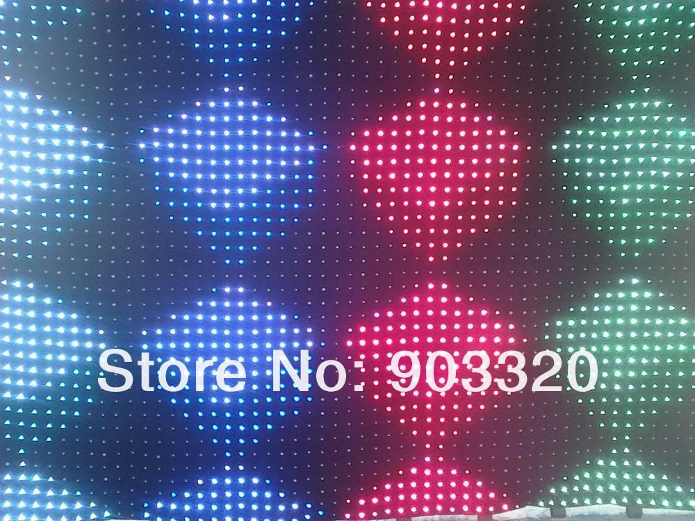 Купить Новый высокого разрешения P7 2 м * 3 м 1176 светод. из светодиодов видеоэкран с пк контроллер для DJ свадебные декорации, Из светодиодов видение занавес