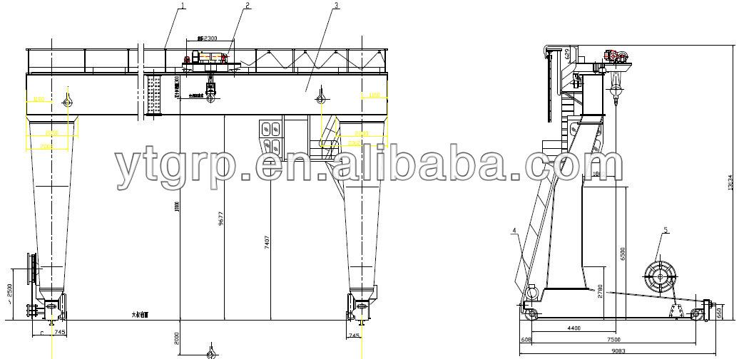 Single Girder Eot Crane Drawing : Girder crane drawing
