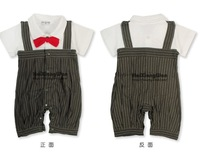 Комплект одежды для мальчиков New Baby Boy Cute Tuxedo Party Body Suit With Bowtie & Vest 3-21 M