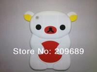 Free Shipping! 1pcs New design 3D Rilakkuma Relax bear cartoon silicone Case Cover for iPad Mini