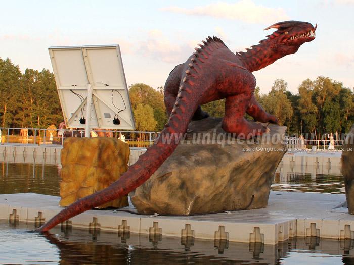 Theme Park Fiberglass Decoration Life Size Dragon Statues.jpg
