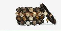 Новый shamballa jewely 10 мм европейских кристалл хип-хоп диско шары макраме браслет очарование бусы, shamballa браслет c-px02