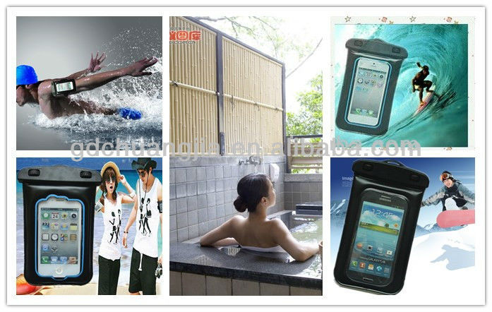 2014 Hot popular pvc waterproof bag for ipad with string
