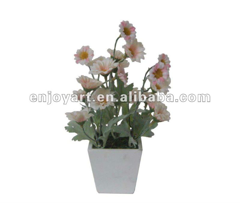 "9""artificial decorative chrysanthemum w/pot"